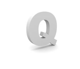 3d Alphabet Q