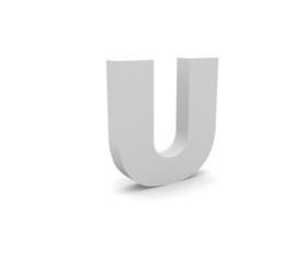 3d Alphabet U