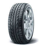 Summer tire with alurim on white fond