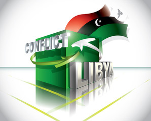 Libyan conflict Vector illustration