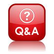 """Q&A"" Web Button (questions and answers assistance help faqs)"