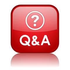 """""""Q&A"""" Web Button (questions and answers assistance help faqs)"""