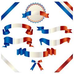 set of french ribbon