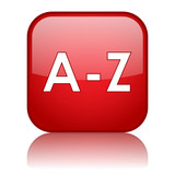 A-Z Web Button (directory dictionary search catalogue find go) poster