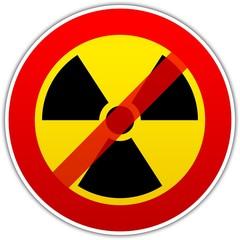 Radioaktivität Verbotsschild