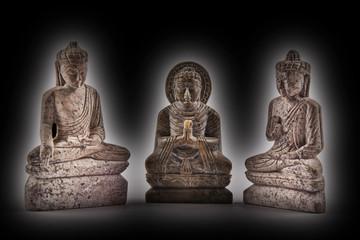 Budha stone sculpture meditation