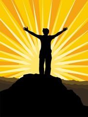 Man standing worship
