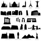 Fototapety landmark silhouette set