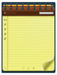 Vector notepad template (vertical)