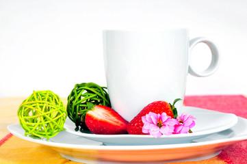 kaffeetasse Erdbeeren