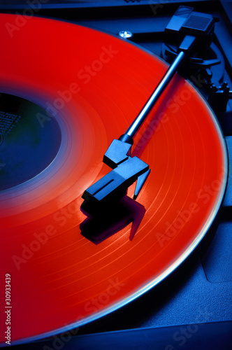 Bright red record