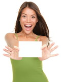 Gift card woman excited - 30934219