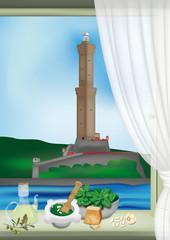 Genova, Lanterna e pesto