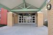 modern school entrance