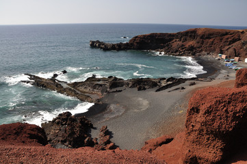 Sea coast on canary island Lanzarote