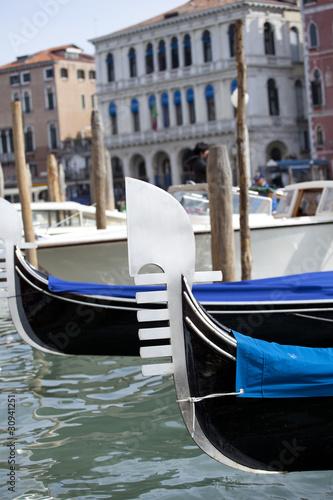 Tuinposter Gondolas Pettine di una gondola, Venezia