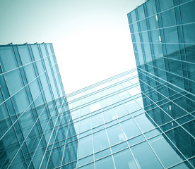 modern glass building skyscrapers of business center