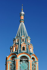 Belltower-is photographed dome in Russia.