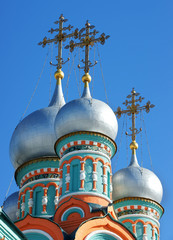 Church-is photographed dome in Russia.