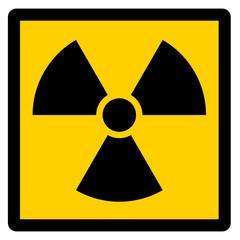Achtung Radioaktivität eckig