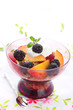 healthy breakfast -muesli with fresh berries, fruit and yoghurt