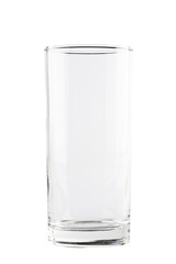 Empty highball glass isolated on white background