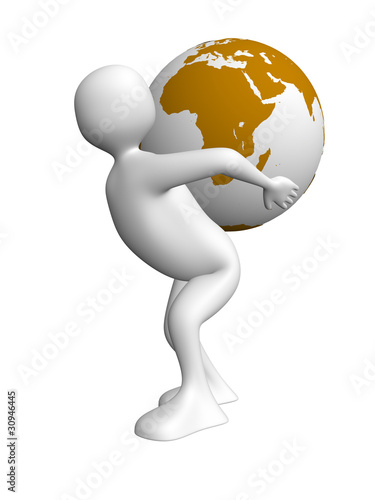 Man carrying the world
