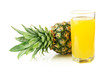 Glass with fresh pineapple