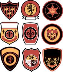 classic griffin royal emblem badge shield