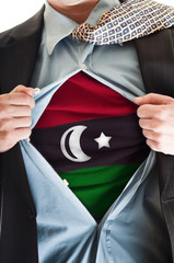 Libya flag on shirt