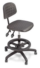 Isolated drafting chair