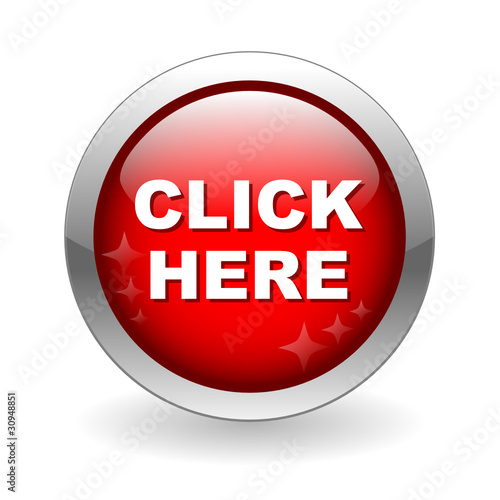 CLICK HERE Web Button (connection mouse cursor go ok yes red)