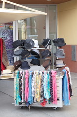 Scarves and Hats at Outside Vendor