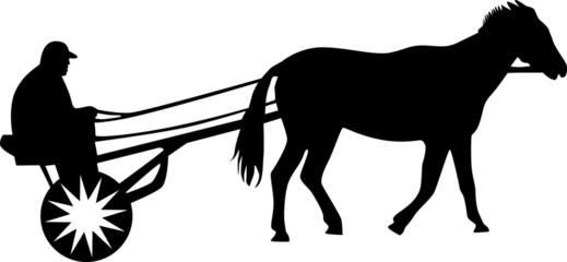 man and horse silhouette vector