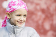 canvas print picture - child with cancer