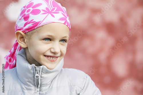 canvas print picture child with cancer