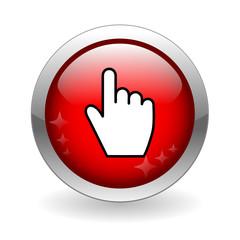 CLICK HERE Web Button (mouse cursor internet connection icon)