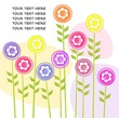 Vector background with colorful flowers