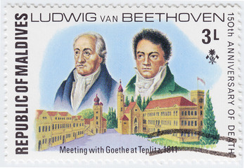 Ludwig VAN Beethoven and Goethe