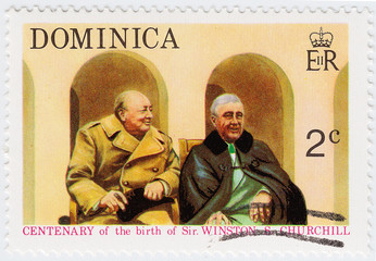 Winston Churchill and Franklin Roosevel