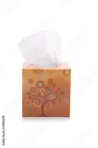 Tissue box isolated on white