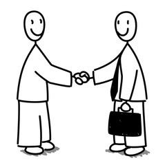 Poignée de mains avec homme d'affaire pour accord