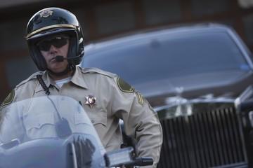 Patrol officer, police escort