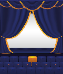 Empty cinema. Vector illustration