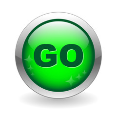 """""""GO"""" Web Button (search download internet click here connection)"""