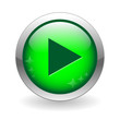 PLAY Web Button (watch live video view media player icon music)