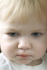 Blonde 14 month old with blue eyes