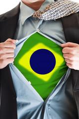 Brasil flag on shirt