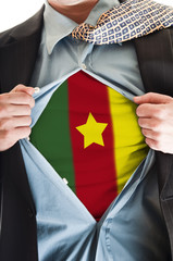 Cameroon flag on shirt