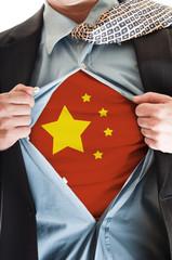 China flag on shirt